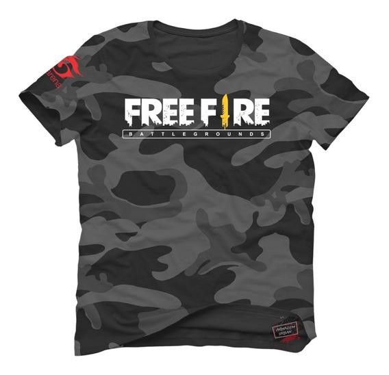 Camisa Camiseta Free Fire Mobile Camuflada