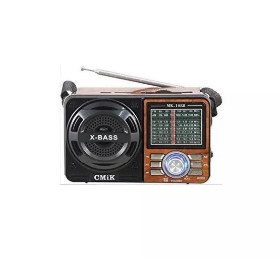 Rádio Analógico Mp3 Usb Am Fm Caixa De Som Portátil Mk 1088