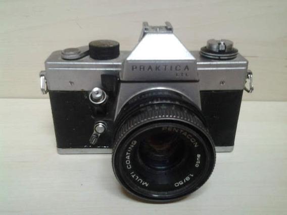 Máquina Fotográfica Antiga Praktika Ltl - Item De Coleção
