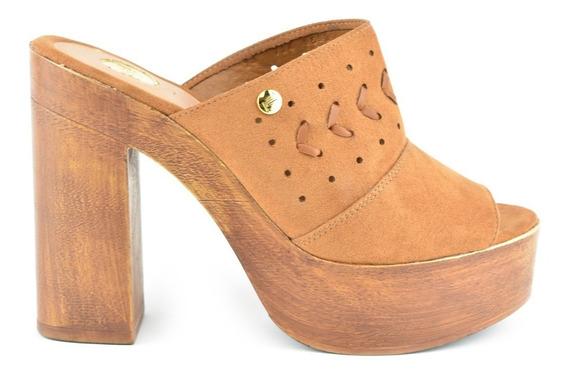 Sandalia Tacón Para Mujer Lob Footwear 724-9593 Marrón Nuevo Oi19