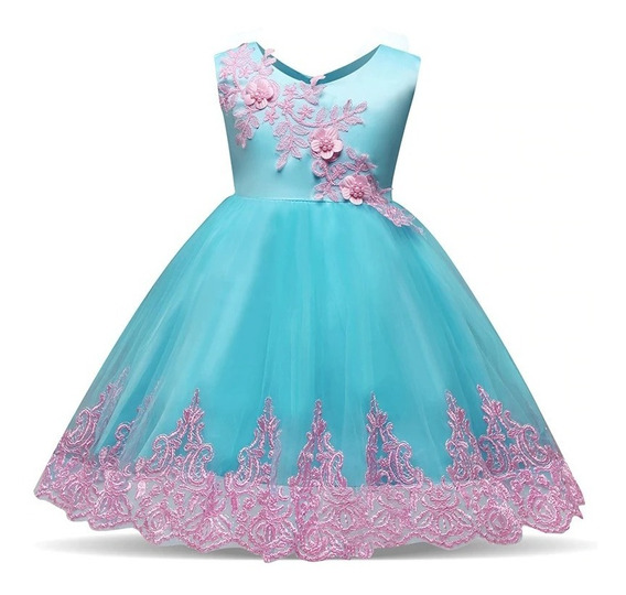 Hermoso Vestido Varios Colores Y Modfiesta,presentacio Moño