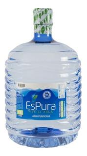 Agua Purificada 4 Botellas 10 Lts Desechable / Espura
