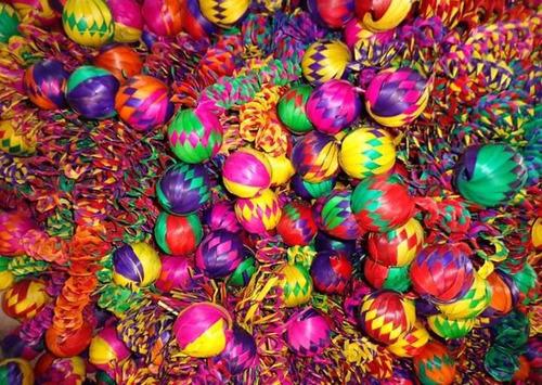 Esferas  Artesanales De Palma Para El Árbol De  Navidad