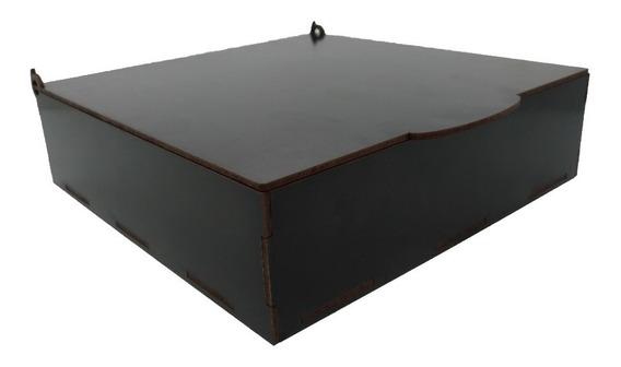 Caixa Mdf Preto 20x20x5 Cm Lembrancinha Kit 10 Peças