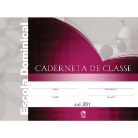 Kit 5 Cadernetas De Classe + Livro Relatório Ebd