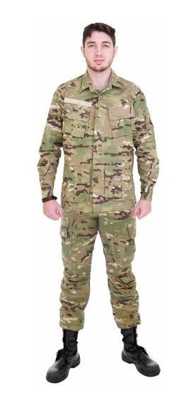 Conjunto Farda Militar Calça + Gandola De Combate Multicam