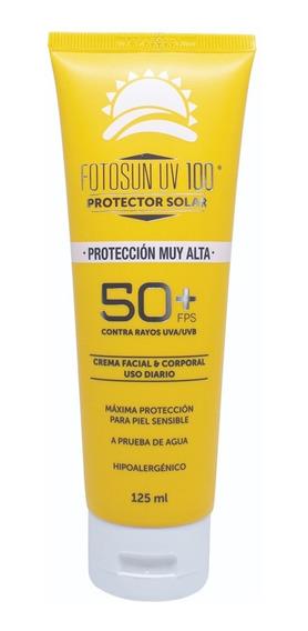 Protector Solar Fotosun Uv100 Adulto Fps 50+ Tubo 125ml