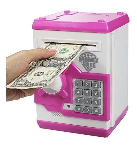 Elemusi Cartoon Electronic Password Mini Atm Piggy Bank Cash