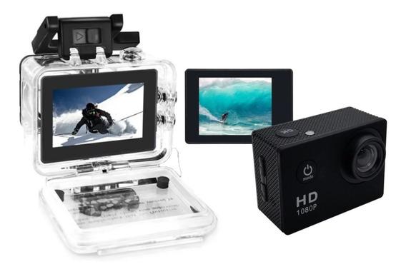 Camera Filmadora Sports 1080p Full Hd Go Pro + Brinde