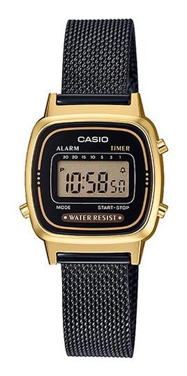 Relógio Casio Vintage Feminino Dourado/preto La670wemb-1df