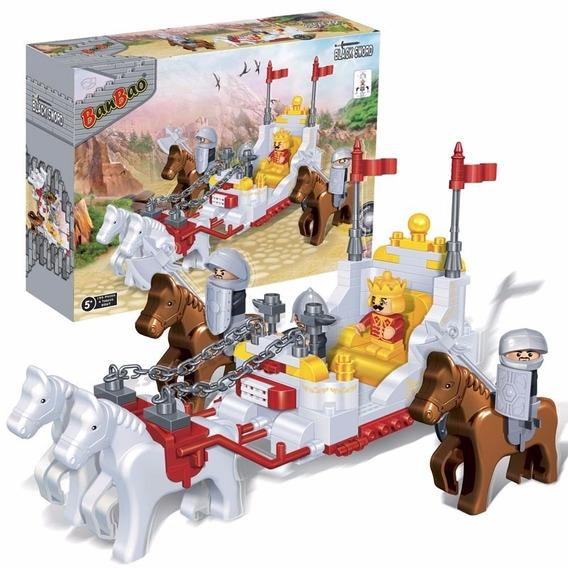 Blocos De Montar Carruagem Do Rei Medieval Banbao 8267