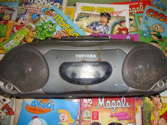 Radio Gravador A Pilhas E Luz Toshiba Com Fonte Bivoltagem