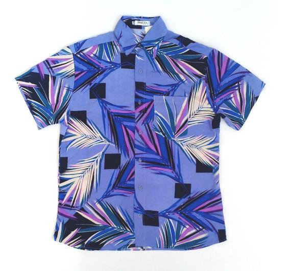 Camisa De Botão Folhas