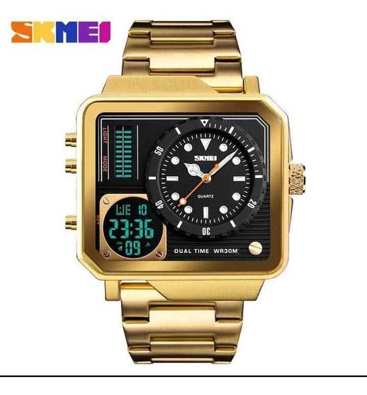 Relógio Masculino Skmei Watch 1392 Aço Inoxidável .