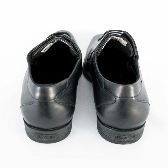 Sapato Ferracini 4304-281g Liverpool Com Cadarço Preto