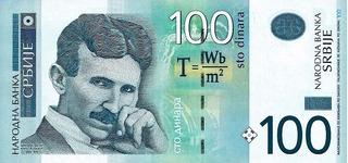 Grr-billete De Serbia 100 Dinara 2012 - Nikola Tesla