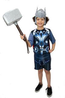 Fantasia Thor Mascara, Martelo Novo Infantil Guerra Infinita