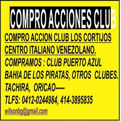 Club Tachira, Caracas, Oricao, Puerto Azul, Valle Arriba,