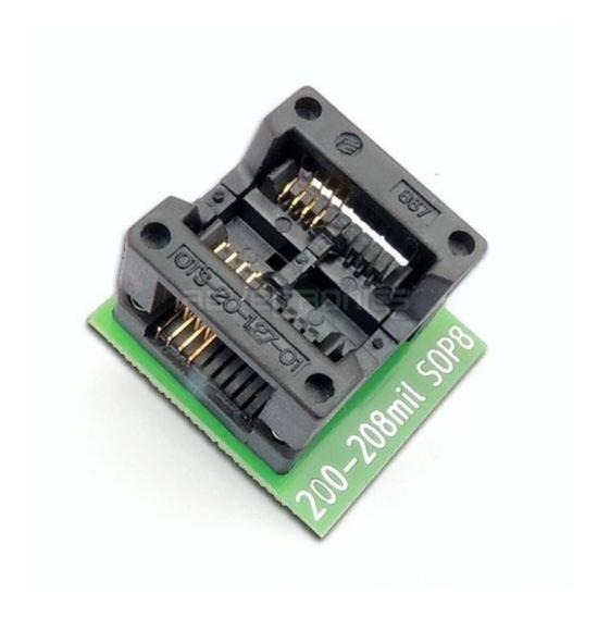 Adaptador 200mil Gravador Bios Memoria Flash Socket Zif Sop8