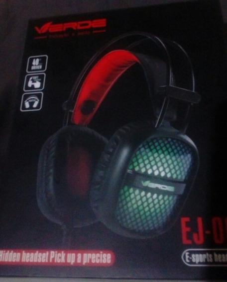 Fone De Ouvido Headphone E-sports C/ Luz (ej-008)