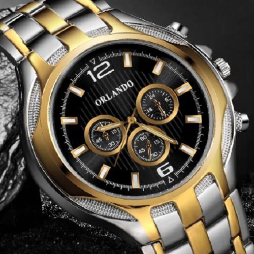 Relógios Masculinos De Quartzo E Aço Inoxidável