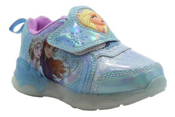 Zapatillas Frozen Con Luz Luces Disney Import Usa, V. Crespo
