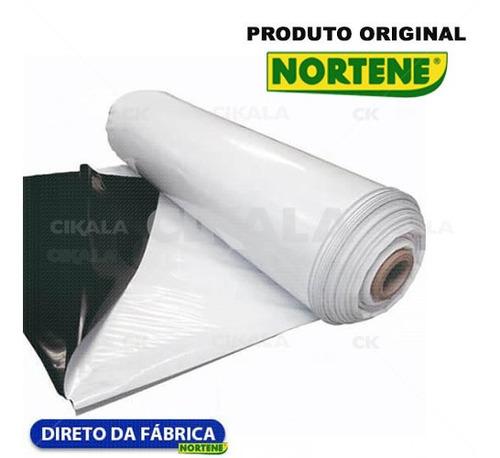 Filme Estufa Branco Preto Plástico Antiuv 10x35 M 200 Micras