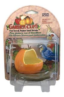 Comedero Y Bebedero Aves Garden Cups Naranja