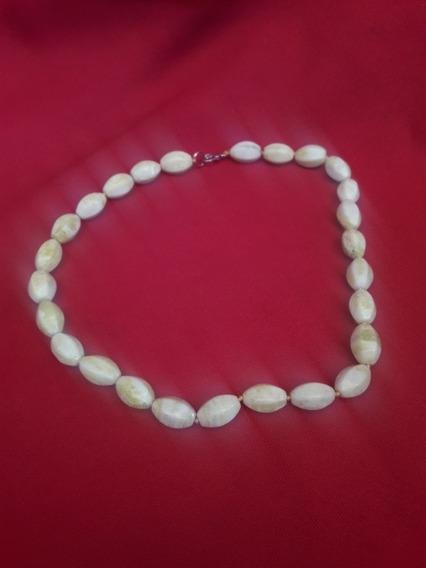 Collar De Jade Amarillo Antiguo
