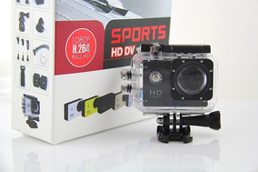 Câmera Sports Hd Dv 1080p Fullhd 30m (similar Gopro) + 20 Ac