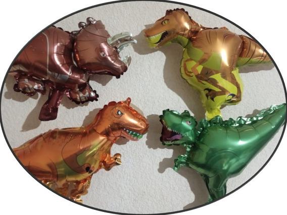 10 Globo Dinosaurio Metalico Fiesta T-rex Mayoreo Regalo