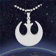 Colar E Pingente Aliança Rebelde Star Wars