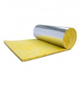 Rollo Lana De Vidrio Isover Tech Plata 20m2 C/ Foil Aluminio