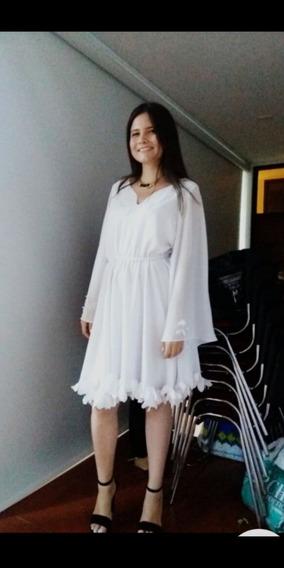 Alta Moda,elegante Elaborado En Georgette, Escote V Diseñado