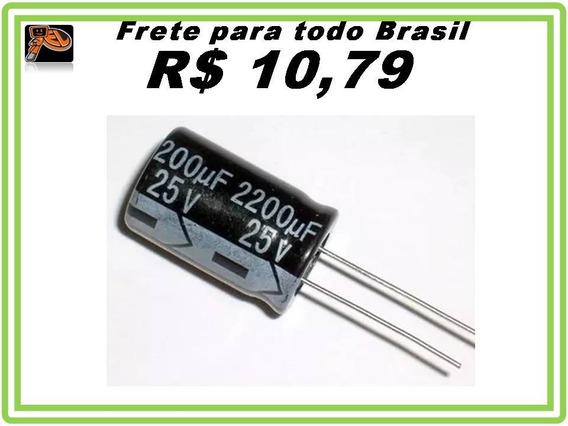 Capacitor Eletrolitico 2200uf X 25v 2200uf 25v Kit 10 Pcs