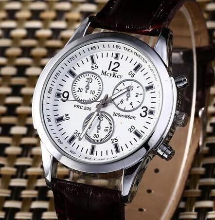 Relógios De Pulso, Aço Inoxidável Com Pul. De Couro Barato