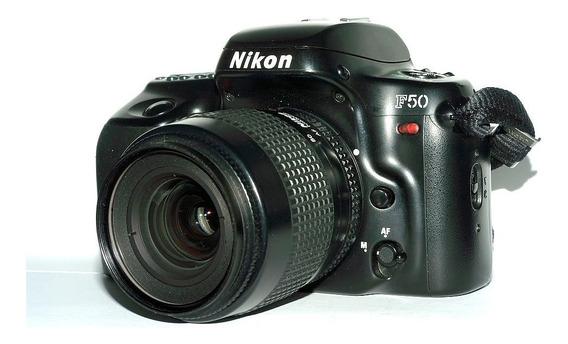 Camera Nikon F50 Com Lente 35-80 Mm (usa Filme E Não Cartão)
