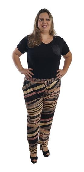 Calça Pantalona Tamanho Grande Plus Size #098
