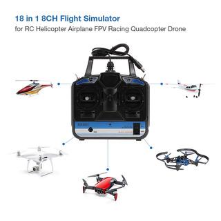 18 En 1 8ch Usb Vuelo Simulador Emulator Para Rc Helicóptero