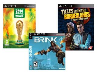 3 Juegos Ps3 - Fifa 2014 Brazil - Brink - Tales Borderlands