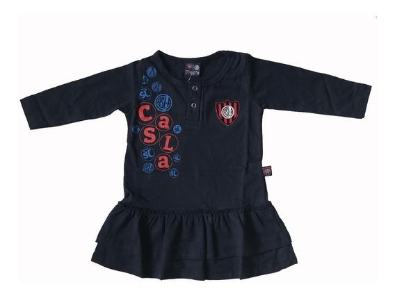 Vestido Beba Nena San Lorenzo Manga Larga Producto Oficial