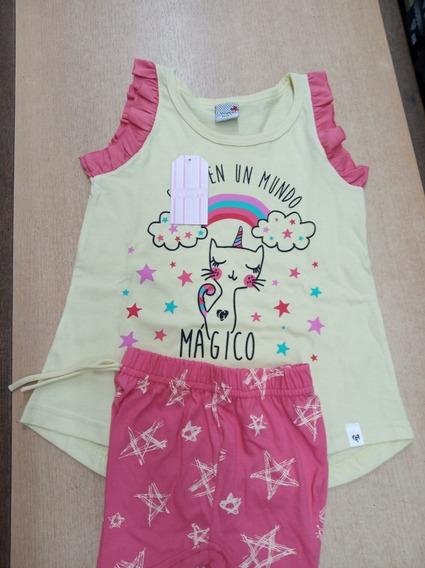 Pijama Verano De Nena Linea Unicornio Art 830
