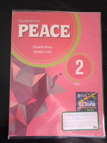 Livro Students For Peace 2  Editora Moderna