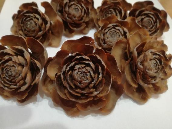 Rosas De Coniferas Para Centros De Mesa Y Souvenir X 10 Unid