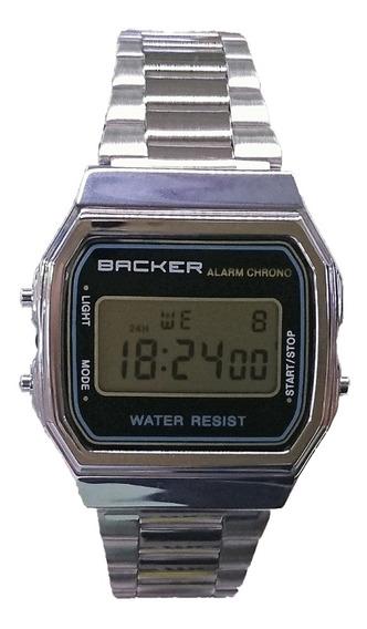 Relógio Masculino Backer Digital 15001453f - Prata