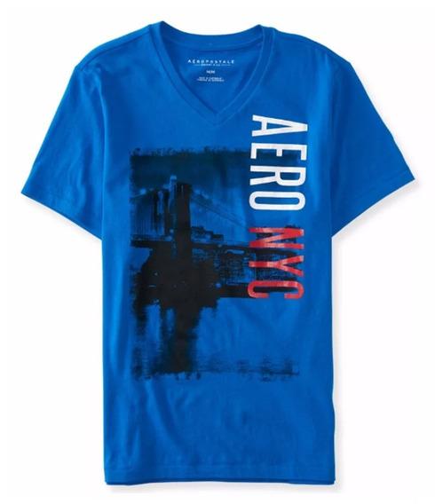 Camiseta Aeropostale Azul Original M