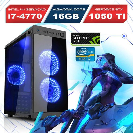 Computador Alfatec Gamer Intel Core I7 16gb 1tb Gtx 1050 Ti