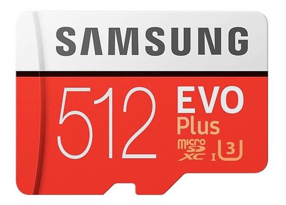 Cartão De Memória Samsung Micro Sd Evo Plus 512gb Sdxc U3 4k