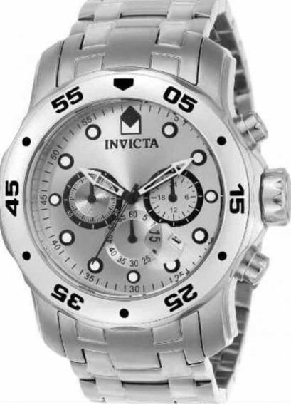 Relógio Invicta Pro Driver 0071 Prata Original Pronta Entre
