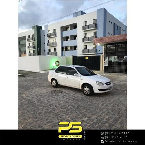 Apartamento Com 2 Dormitórios Para Alugar, 60 M² Por R$ 600/mês - Paratibe - João Pessoa/pb - Ap4550